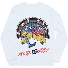 Seams Wild Hockey Long Sleeve Tech Tee - Gobblechuck
