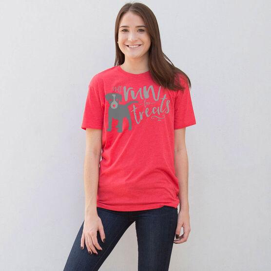 Running Short Sleeve T-Shirt - Will Run For Treats