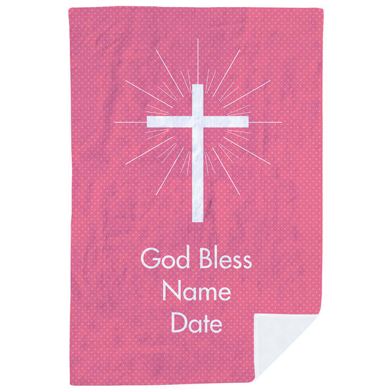 Personalized Premium Blanket - God Bless Her