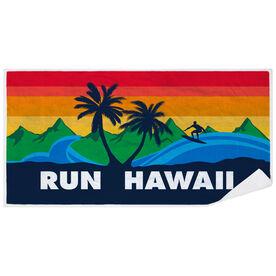 Running Premium Beach Towel - Run Hawaii