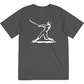 Baseball Short Sleeve Performance Tee - Baseball Player