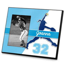 Softball Photo Frame Personalized Softball Pitcher Name and Number