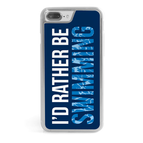 Swimming iPhone® Case - I'd Rather Be Swimming
