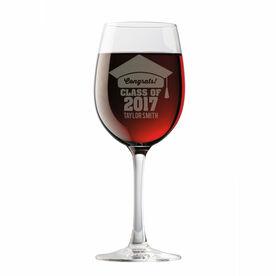 Personalized Wine Glass - My Graduation