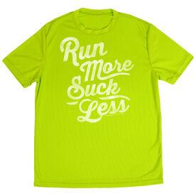 Men's Running Short Sleeve Tech Tee Run Club Run More Suck Less (Script)
