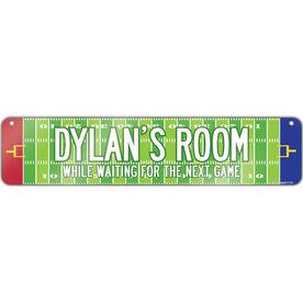 "Football Aluminum Room Sign Personalized Football Room (4""x18"")"