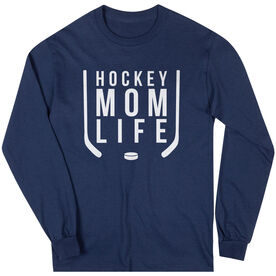 Hockey Long Sleeve T-Shirt - Hockey Mom Life