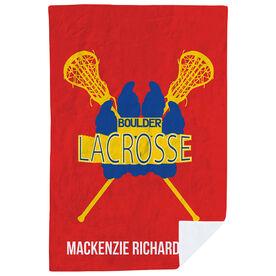 Girls Lacrosse Premium Blanket - Custom Lacrosse Team Logo