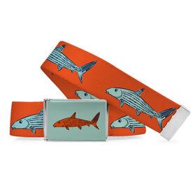 Fly Fishing Lifestyle Belt Orange Bonefish