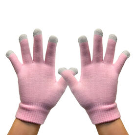 Running Gloves with Touchscreen Fingers - Princess Pink
