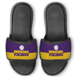 Volleyball Repwell® Slide Sandals - Team Name Colorblock