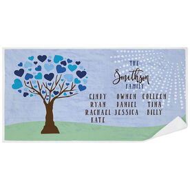 Personalized Premium Beach Towel - Family Tree