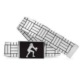 Volleyball Lifestyle Belt Volleyball Line Pattern