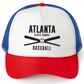 Baseball Trucker Hat - Team Name With Text