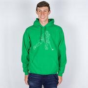 Hockey Hooded Sweatshirt - Hockey Player Sketch