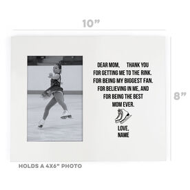 Figure Skating Photo Frame - Dear Mom Heart