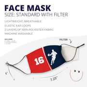 Basketball Face Mask - Personalized Player Male