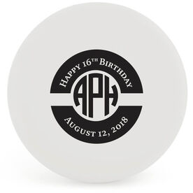 Personalized Birthday Monogram Lacrosse Ball (White Ball)