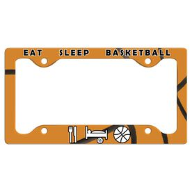 Eat, Sleep, Basketball License Plate Holder