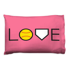 Softball Pillowcase - Love