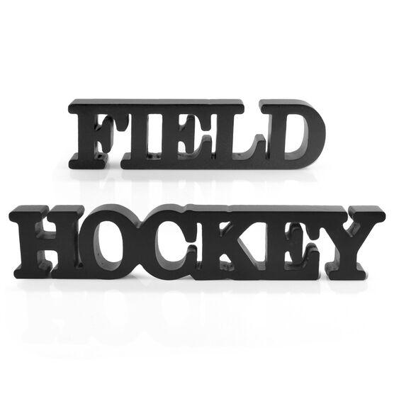 Field Hockey Wood Words