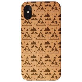 Skiing Engraved Wood IPhone® Case - Skiing Pattern