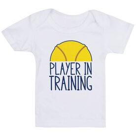 Softball Baby T-Shirt - Player In Training