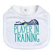 Girls Lacrosse Baby Bib - Player In Training