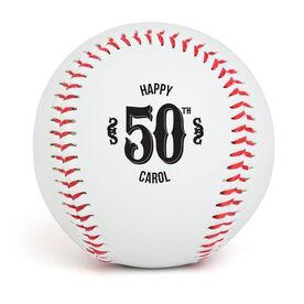 Custom Baseball Birthday Ball with Customizable Age