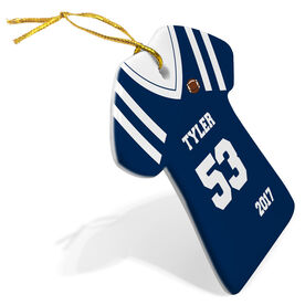 Football Porcelain Ornament Personalized Jersey