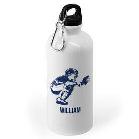 Baseball 20 oz. Stainless Steel Water Bottle - Baseball Catcher Silhouette
