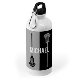 Guys Lacrosse 20 oz. Stainless Steel Water Bottle - Personalized Vertical Lacrosse Stick
