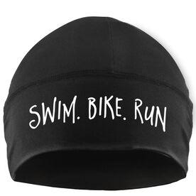 Run Technology Beanie Performance Hat - Swim Bike Run