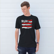 Running Short Sleeve T-Shirt - Run For The Red White and Blue