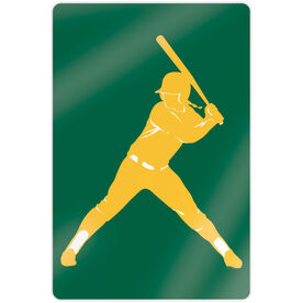 "Softball 18"" X 12"" Aluminum Room Sign - Batter"