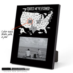 Fly Fishing Photo Frame - States We've Fished Outline
