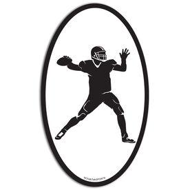 Football Quarterback Oval Car Magnet