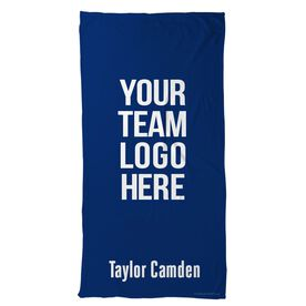 Tennis Beach Towel Custom Team Logo