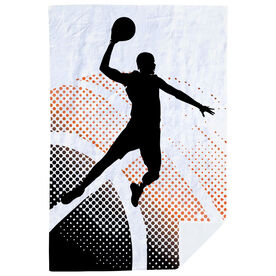 Basketball Premium Blanket - Halftone Sunrise