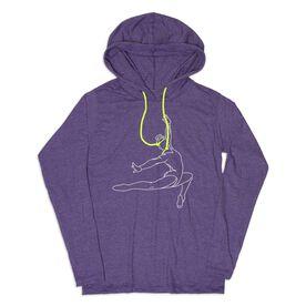 Women's Gymnastics Lightweight Hoodie - Gymnast Sketch