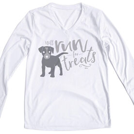 Women's Long Sleeve Tech Tee Will Run For Treats