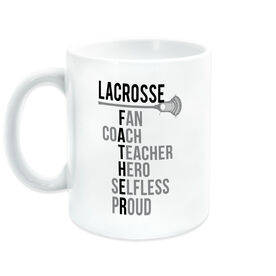 Guys Lacrosse Coffee Mug - Guys Lacrosse Father Words