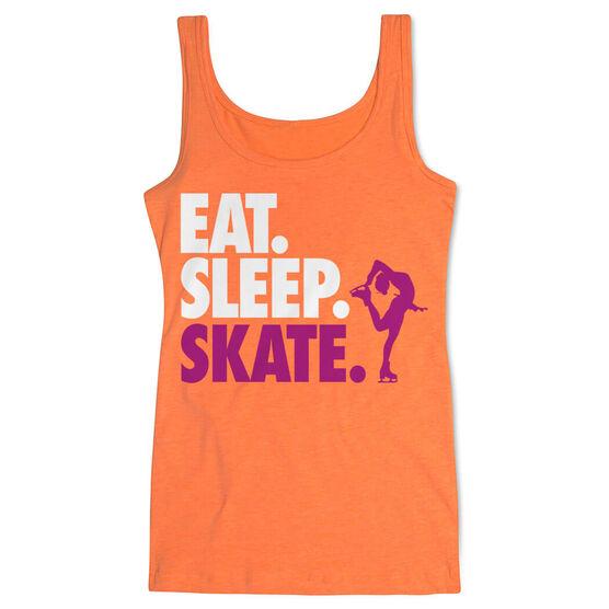 Figure Skating Women's Athletic Tank Top Eat. Sleep. Skate.