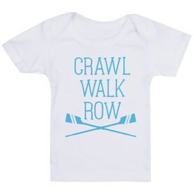 Crew Baby T-Shirt - Crawl Walk Row
