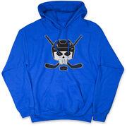 Hockey Hooded Sweatshirt - Hockey Helmet Skull