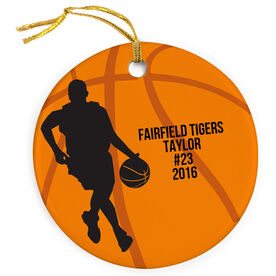 Basketball Porcelain Ornament Player With Text