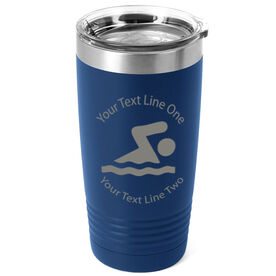 Swimming 20 oz. Double Insulated Tumbler - Icon