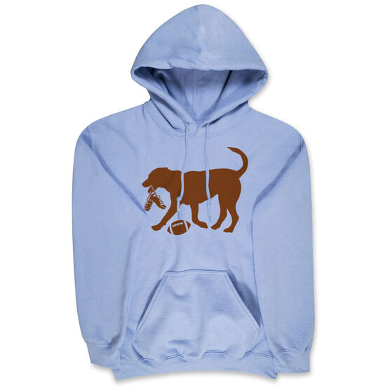 Football Hooded Sweatshirt - Football Dog