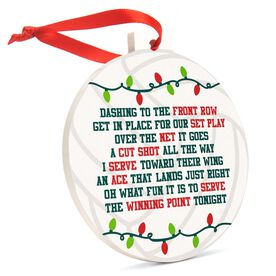 Volleyball Round Ceramic Ornament - Jingle All the Way