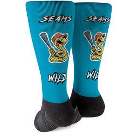 Seams Wild Baseball Printed Mid-Calf Socks - Rattleshake